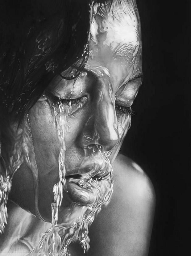 这不是一张照片。这是俄罗斯艺术家奥尔加Melamory的铅笔草图...