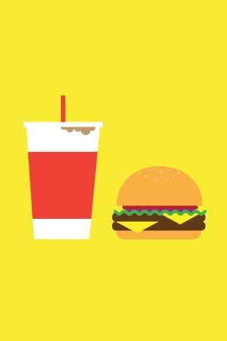 可乐一定要配汉堡