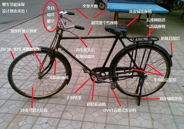 记得下次这样介绍你的自行车哦,立马高端洋气上档次,狂拽炫酷屌霸天了!