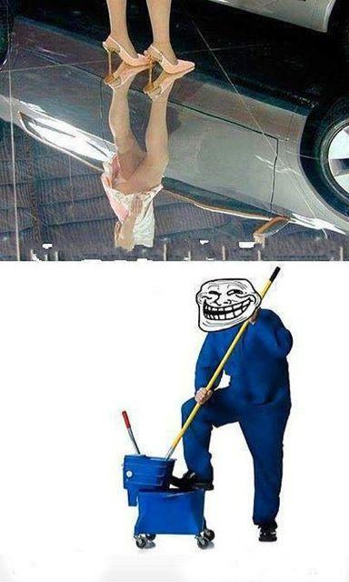 把地板擦干净点!