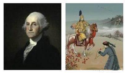 乾隆和华盛顿居然是同一年死的,一直觉着他们俩不在一个次元的转。。