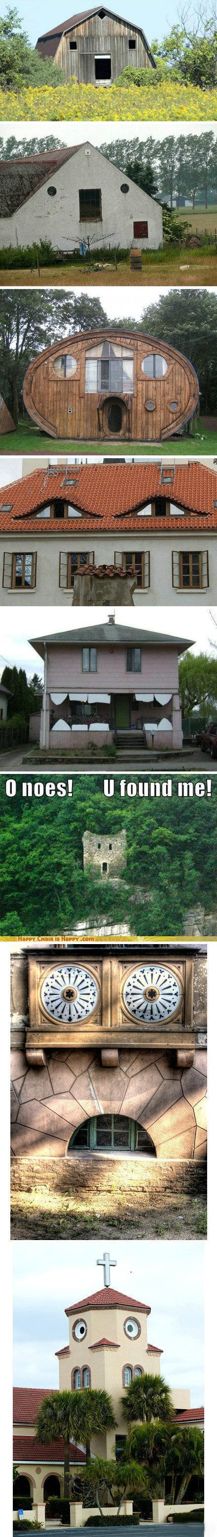 """一个相册叫:(""""▔□▔)/ 楼楼你怎么长了副衰小脸。果然每个很傻的楼都是有生命的!"""