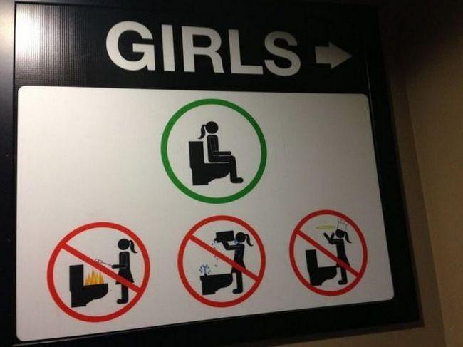 女厕所的正确用法...