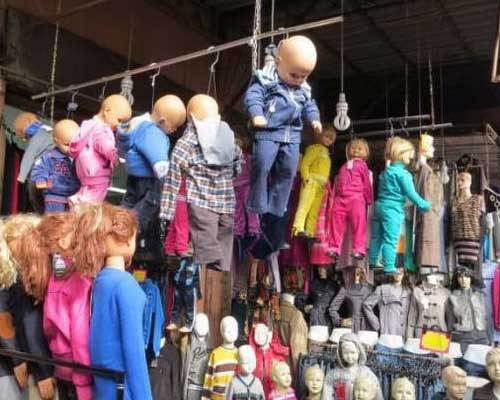 史上最恐怖童装店 这店主是不想做生意了吧?