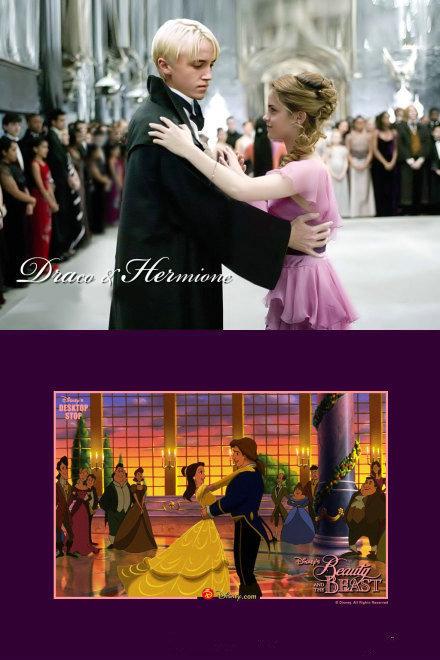 """O~!M~!G~!迪斯尼真人电影《美女与野兽》不仅""""赫敏""""Emma Watson将出演女主角贝儿 (Belle) ,据美国《国际商业时报》报道华纳也表示正在接洽英国男星""""马尔福""""汤姆•费尔顿出演本片男主角。逆天啊!""""赫敏""""和""""马尔福"""",多少人圆梦了!"""