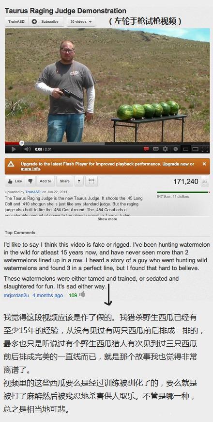 Youtube专家网友指出视频作假,有理有据,使人信服 →_→