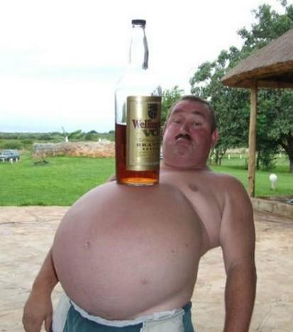 最牛X的啤酒肚了!