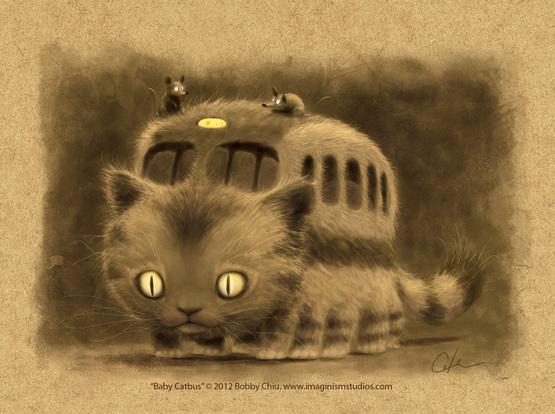 Baby Catbus(龙猫巴士小时候),作者:Bobby Chiu & Kei Acedera (2000x1492)