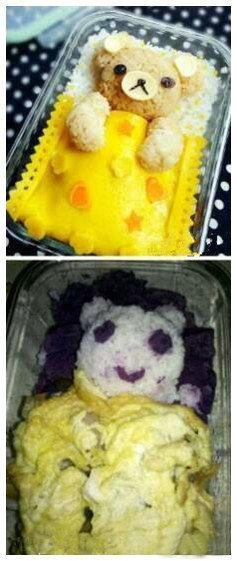 在网上看的轻松熊饭很可爱,然后自己学着做。。。。。。