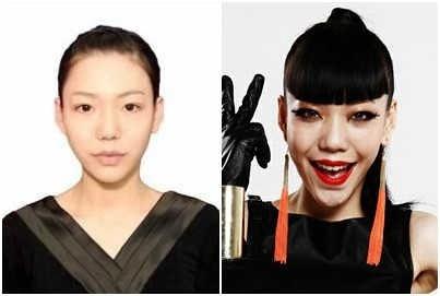 看一下,化妆前与化妆后。。。