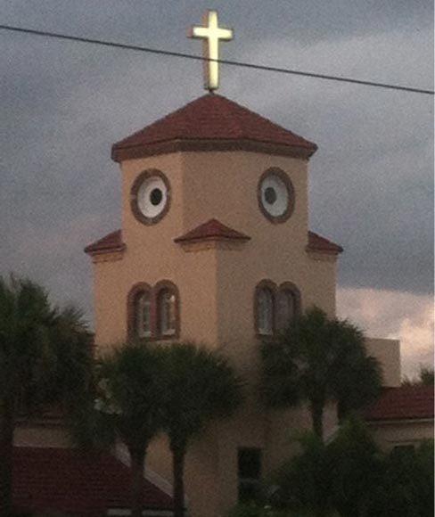 好呆萌的教堂啊!~