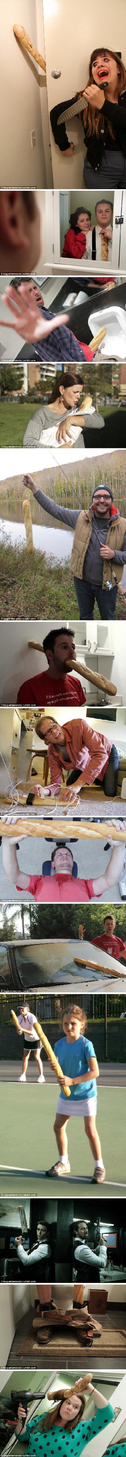 最近,法国长面包成为西方网络世界最火热的话题之一。网民们纷纷把这种形状有趣的食物狠狠地拿来恶搞了一番。
