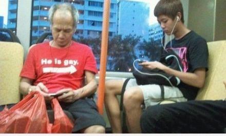 大叔这衣服亮了,男士们别坐他左边啊~