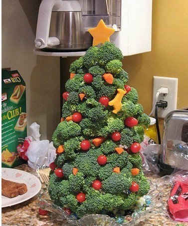 最有才的圣诞树!吃货可以挑战下!!