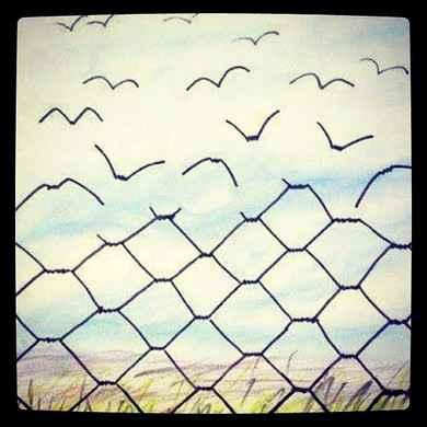 作品<freedom>,一幅引人深思的画。你第一眼看到的是脱离,还是聚拢?选择,从内心出发。
