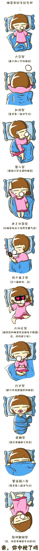 【每个人的睡姿各有不同你的是?_?】
