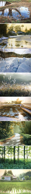 这不是摄影,这是水彩画!来自画家Abe Toshiyuki的作品