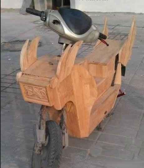 一个木工的电动车,这车开出去不要太拉风啊...............