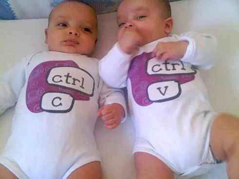 双胞胎=复制+粘贴...