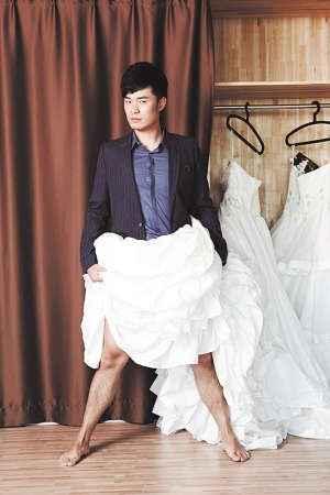 贤儿~你是打算穿婚纱和一菲结婚了么~贤儿你亮拉~