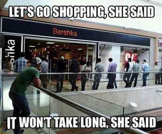 陪女人买东西的男人伤不起啊!