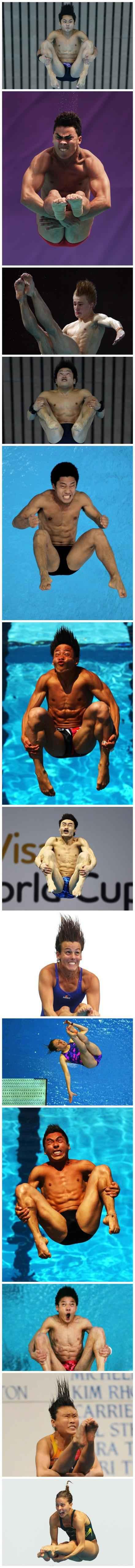 他们是用生命在跳水。。。。