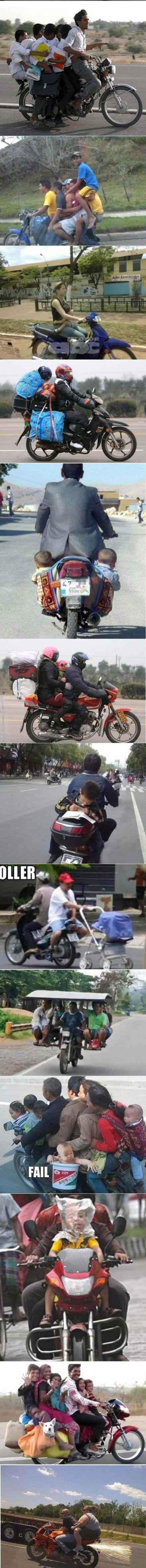摩托车真是一个很神奇的交通工具。。。