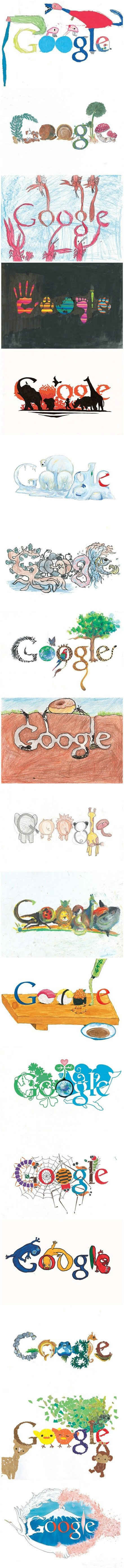 日本中小学生Google Doodle作品,孩子们的创意真是令大人们汗颜啊!