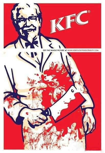 怪不得KFC商标只有上半部分.....