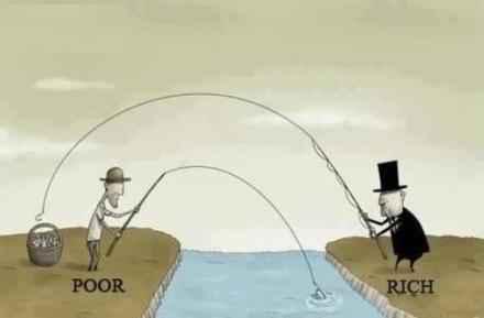 穷人与富人。