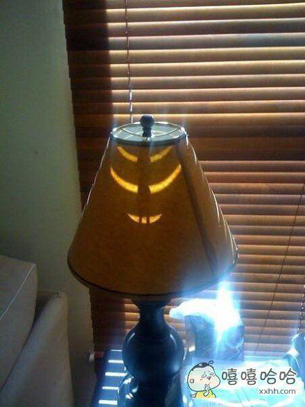 我的台灯有点危险
