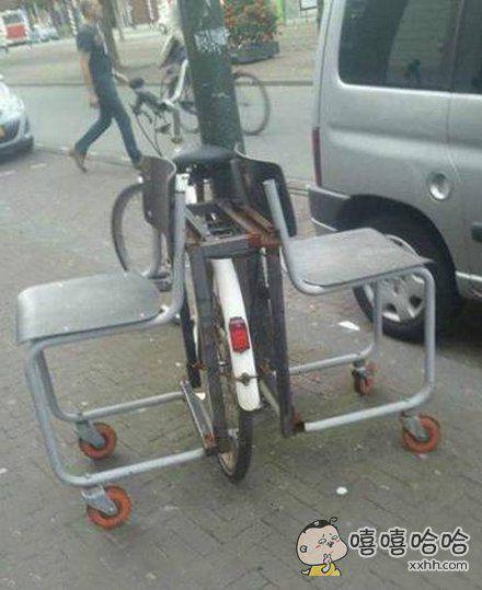 这么牛的自行车