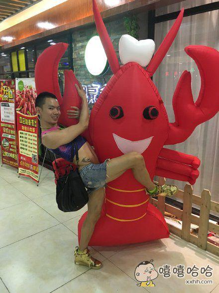 可爱的龙虾,我要抱抱