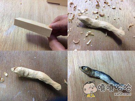 饿了么,来看木雕师的作品,不能动嘴啊!