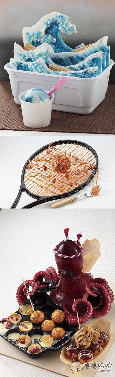日本的岩崎株式会社举办食品模型比赛,参赛的作品各个脑洞奇葩