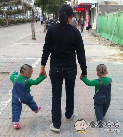 两个孩子,这样分大小,一目了然。