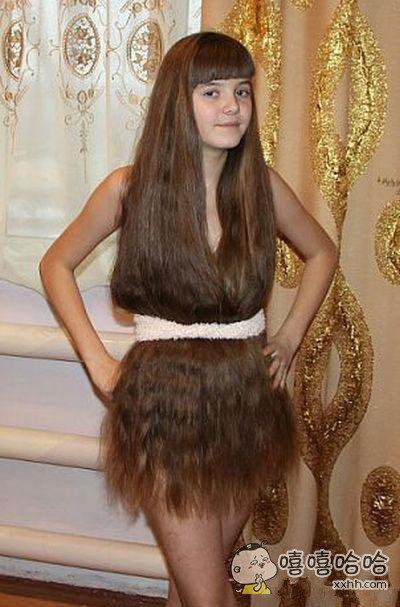 待我长发及腰,做成裙子可好?