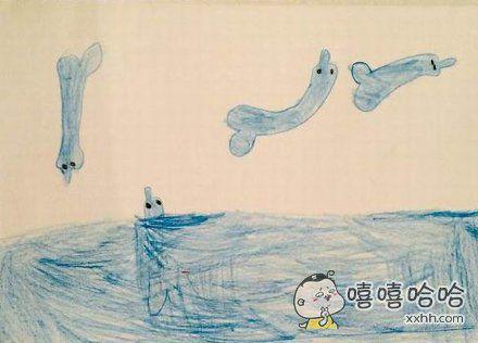 我女儿画的海豚馆