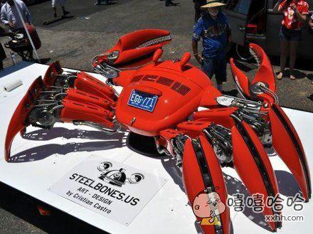 艺术家用大众甲壳虫做成的大螃蟹,你赢了……