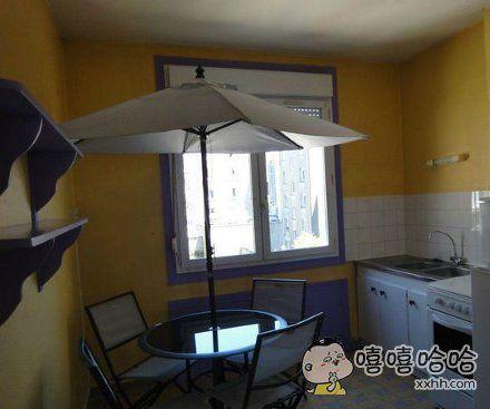 这伞是拿来装饰的么