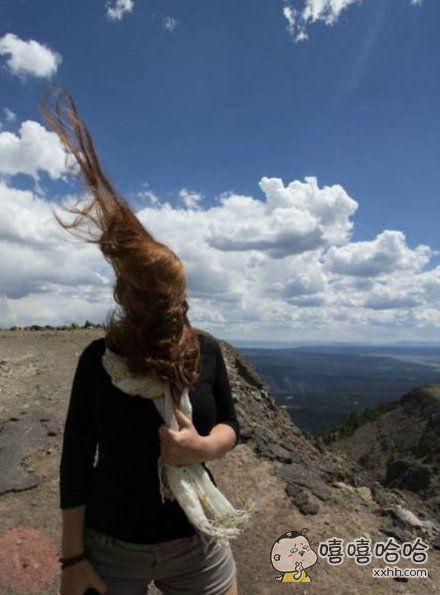 风吹乱了我的发
