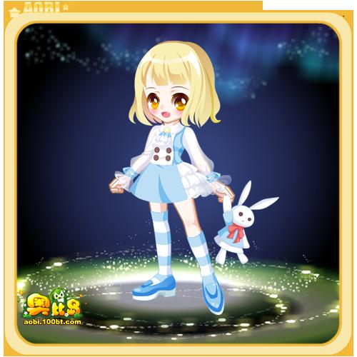 奥比岛星际可爱兔子装
