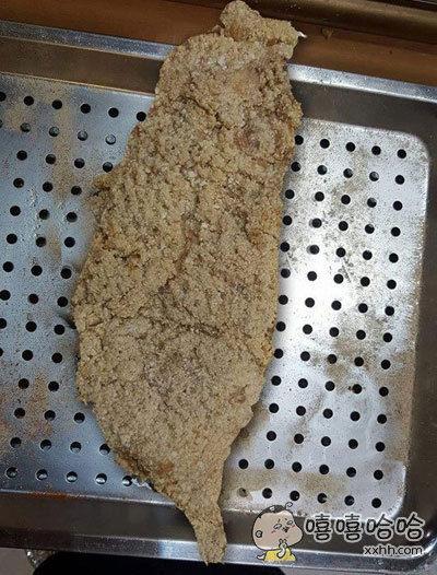 有同学买到了一块正宗台湾鸡排