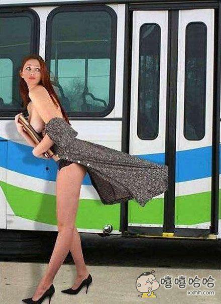 下公交车最经典的一幕