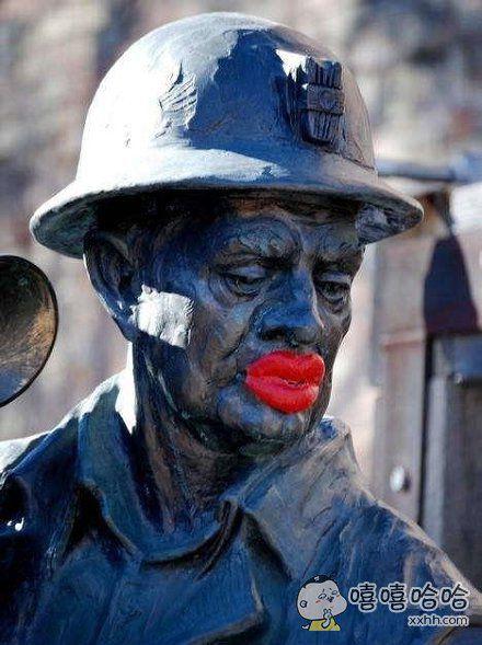 雕塑也有人恶搞