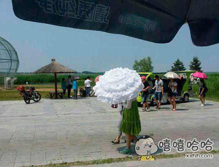 这把伞透漏着高贵的气息
