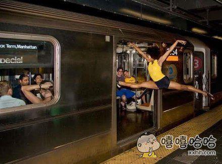 赶地铁的人伤不起