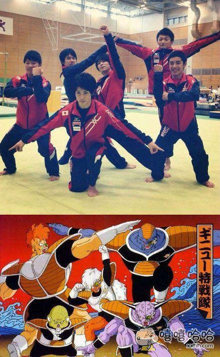 日本体操队的Pose好像哪里见过