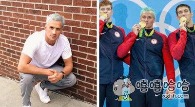 里约泳池水变绿,美游泳名将白发被染绿色,为了参加本届奥运会,罗切特专门将头发染成了非常炫酷的白灰色,不过,就在比赛之后,人们发现,他的头发已经被染成了绿色……