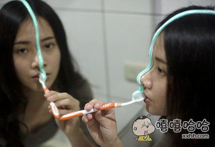 刷牙洗脸洗头一次全办了